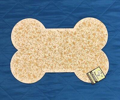 - ORE Pet Recycled Rubber Pet Placemat Mini Bone - White
