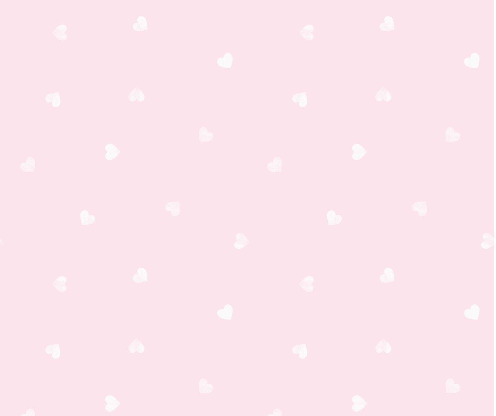 Details About Pink White Love Hearts Girls Childrens Kids Nursery Baby Wallpaper Dl21118
