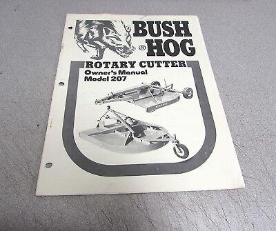 Bush Hog 207 Rotary Cutter Owners Manual