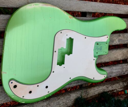 P BASS Body RELIC 60s GREEN Pearl Aged ThinSkinLacquer READY TO SHIP JVGuitars