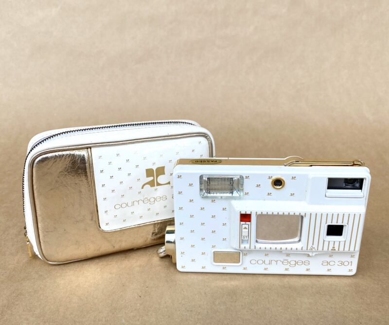 Minolta Courreges AC 301 Disc Film Camera W/ Case, VINTAGE