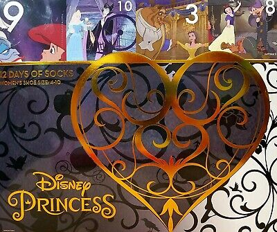 Target Exclusive Disney Princess 12 Days of Socks Advent Calendar Women's Size