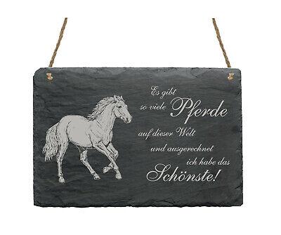 Schiefertafel « HAFLINGER - SCHÖNSTES PFERD » Spruch Pferde Dekoration Deko Wand