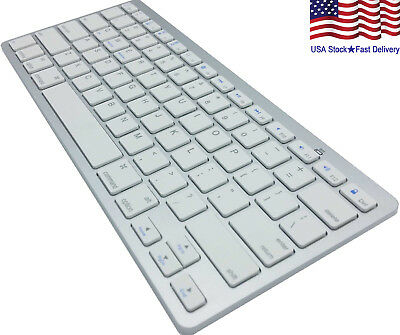 Wireless Bluetooth Keyboard Slim For Macs  Silver White