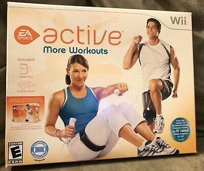 EA Sports Active More Workouts - Nintendo Wii Game & Nutrition Book New