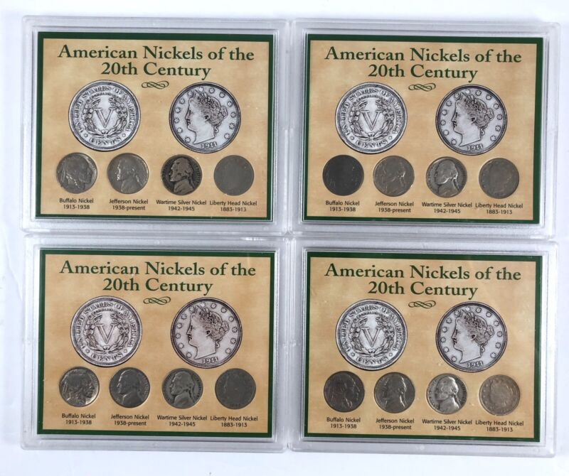 American Nickels of the 20th Century Set of 4 Coins Lot of 4