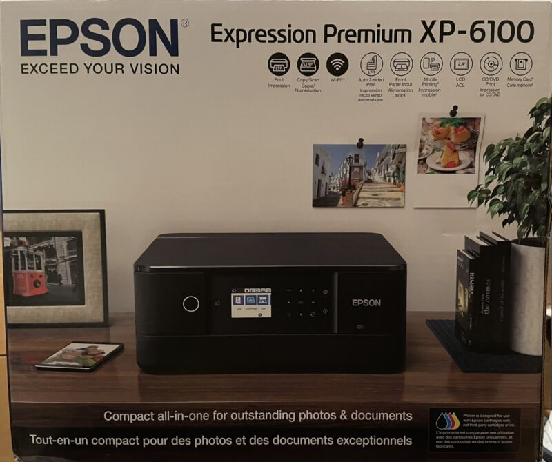 Epson Expression Premium XP-6100 Small-In-One Printer