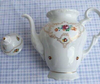 Nachlass / Haushaltsauflösung Weimarer Porzellan Kaffeekanne sehr hübsch