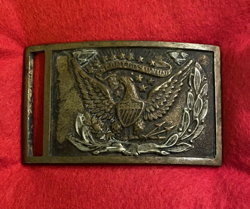 US Civil War NCO Eagle Belt Plate With Benchmark