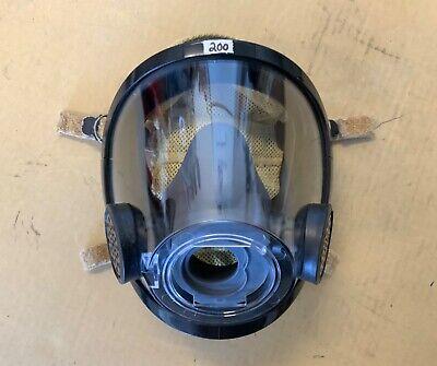 Scott Av3000 Mask Scba Firefighter Mask Grey Nosecup Kevlarheadnet Size Large