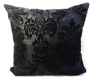 FLOCK DAMASK CUSHION COVERS IN 9 LOVELY COLOURS 18
