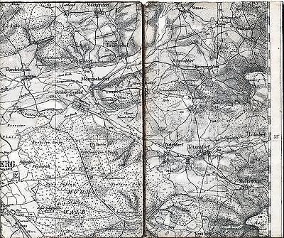 Memmelsdorf Litzendorf Straßgiech 1902 Teilkarte/Ln TK50 Kremmeldorf Bamberg-Ost