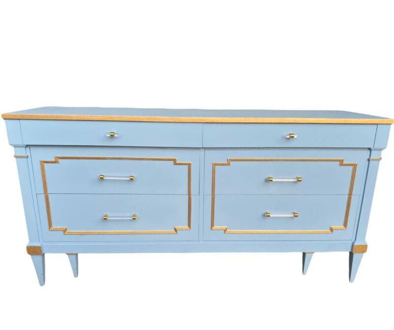 *sold* Gorgeous Sky-blue Dresser,newly Refinished.