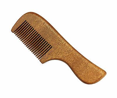 Red Sandalwood Pocket Comb, Beard Comb, Mustache - Red Mustache