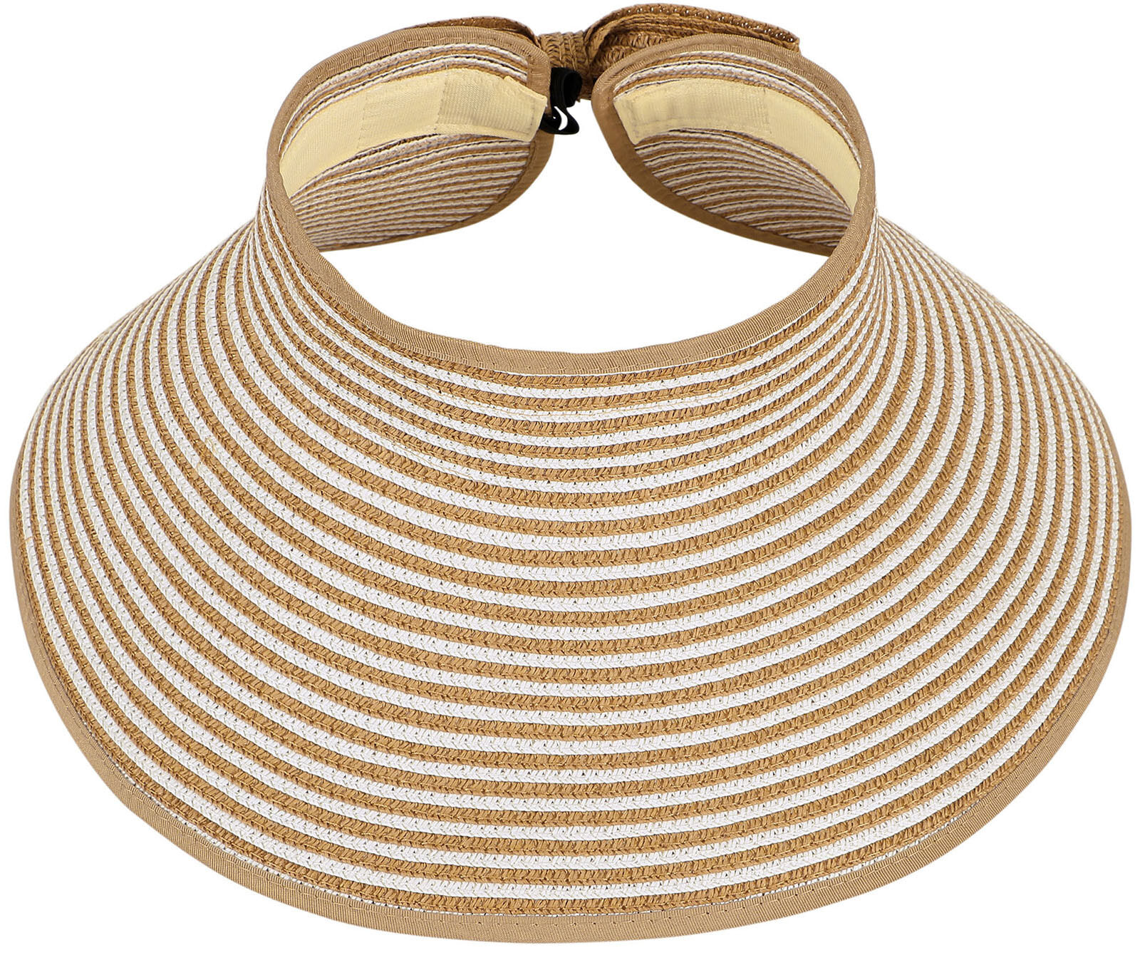 New Ladies Women Foldable Straw Hat Summer Beach Roll Up Wid