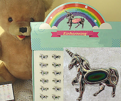 Kinder Ring Ringe Einhorn Pferd Fantasy Tier silberfarben Schmuck Mode Neu