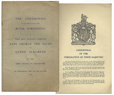 Coronation of King George VI & Queen Elizabeth in 1937