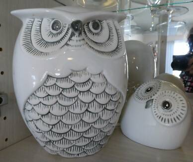 Ceramic Wise Owl and friend Ornaments