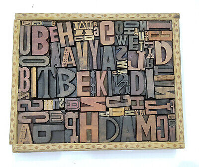 Letterpress Wood Types Collage Be Kind 86 Vintage Random Wooden Types Tc5