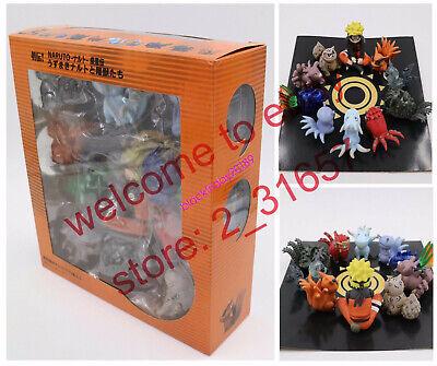 Anime Naruto mini Tailed beast figure collection Bijuu 1-9 tails baby ver. BOX