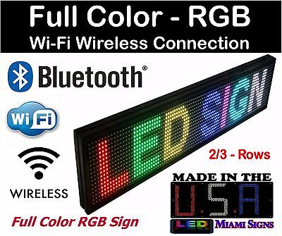 Led Sign Full Color Programmable Bluetooth Wi-fi Connection Rgb Led Sign 27 Usa