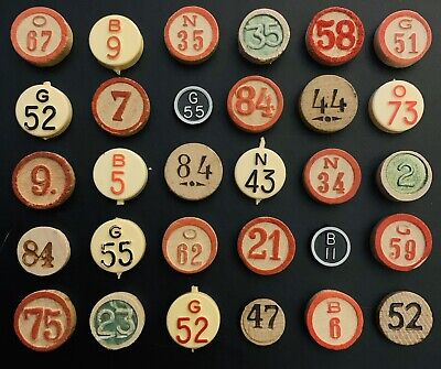 30 Mixed Vintage Bingo Counters