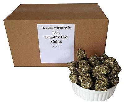 FarmerDavePetSupply 10 lb PREMIUM Timothy HAY CUBES -- Rabbits & -
