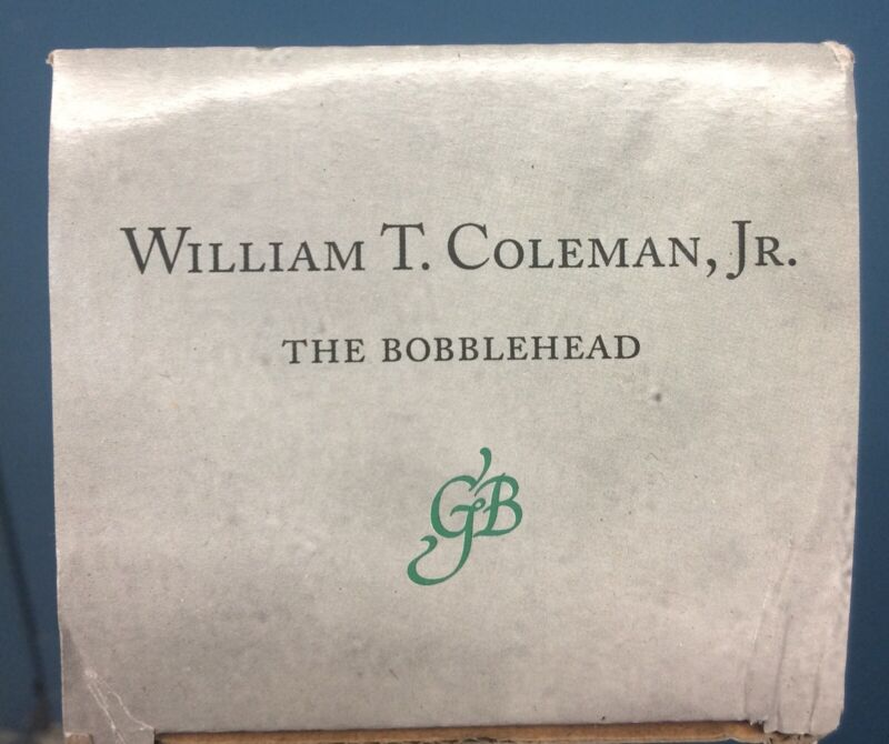 Green Bag William T. Coleman Jr. Bobblehead Supreme Court Clerk D.C. DC Judge