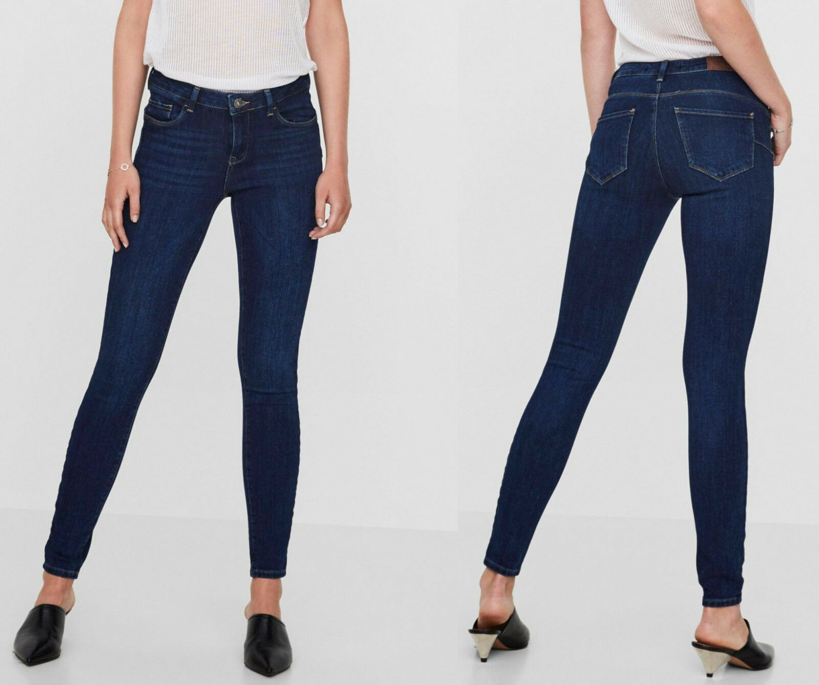 Vero Moda Stretch-Jeans »ICON PUSH UP«, dark blue. NEU!!! KP 59,99 €