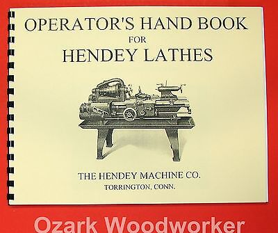 Hendey Old Lathe Operators Hand Book Manual 0360