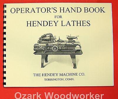 Hendey Old Lathe Operators Hand Book Manual 0360