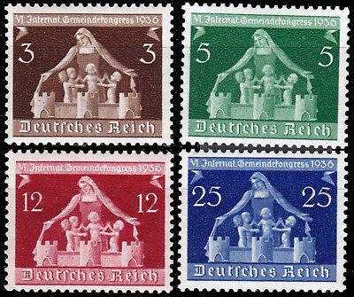 Deutsches Reich 617/20 ** Internationaler Gemeindekongress 1935, kpl. postfrisch