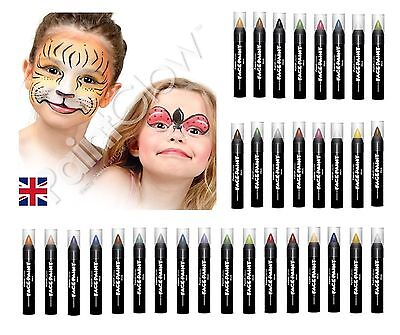 Paint Glow FACE PAINT STICKS Kids Face Body Painting Crayon Stage Make Up Party - Kids Painting Party