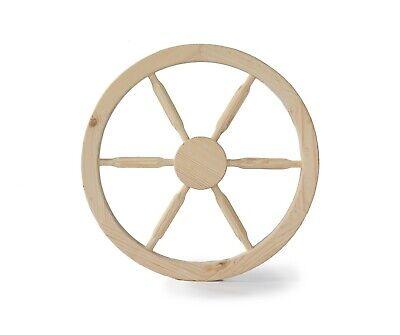 Wooden cart wheel - Wooden wagon wheel - Home garden decorative wheel 50 cm