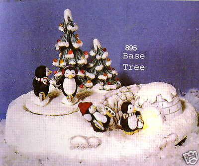 Ceramic Bisque Penguin Winter Wonderland Musical Scioto Mold 895 Ready To Paint