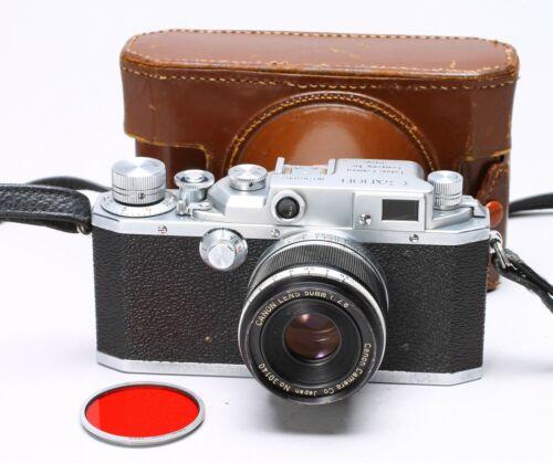 CANON IID 35MM FILM RANGEFINDER CAMERA BODY + 50MM F/2.8 LTM LENS, CASE