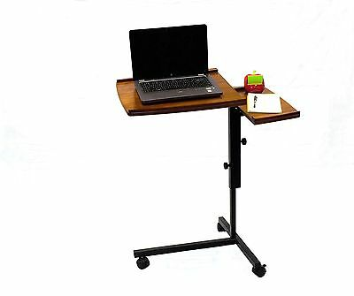 Mobile Laptop Notebook Caddy Desk Stand Espresso And Oak