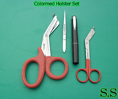 Colormed Holster Set Ems Red Emt Diagnosticred Lister Bandage Scissors Ds-1202