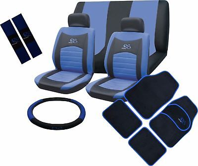 Universal Car Seat Covers Full Set Sporty RS Blue Washable Airbag Compatible