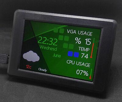 """LCDsysinfo for GOverlay v2.0 USB 3.5"""" TFT LCD Module gamer gadget external"""