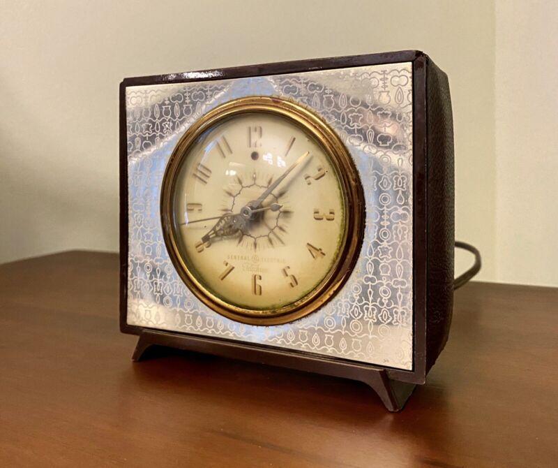 General Eletric Telechron Alarm Clock Mid Century Modern Retro