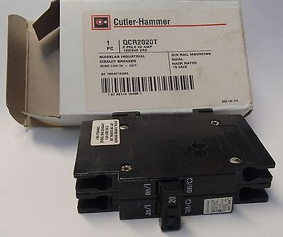 Cutler Hammer Qcr2020t 20A 2 Pole Circuit Breaker Special Purpose