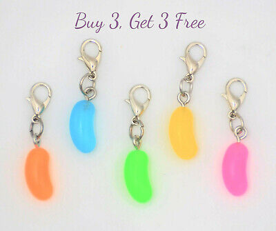Buy 3 Get 3 Free! Clip on jelly bean candy charm for bracelet - lobster clasp  - Candy Charm