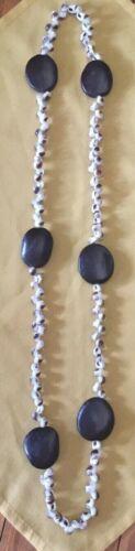 Vintage  HAWAIIAN POLYNESIAN   Shell  Nut  Necklace