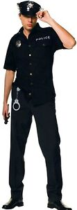 Men's Police Officer Cop Uniform Policeman Party Dress Up Costume