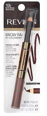 Revlon Brow Fantasy Pencil - Gel, Dark Brown [106], 1 ea