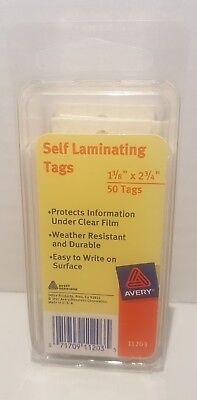 Avery Self Laminating Tags 50 Tags 1-38 X 2-34 11203