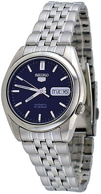Seiko 5 SNK357 Men's Stainless Steel Blue Dial Day Date Automatic Watch