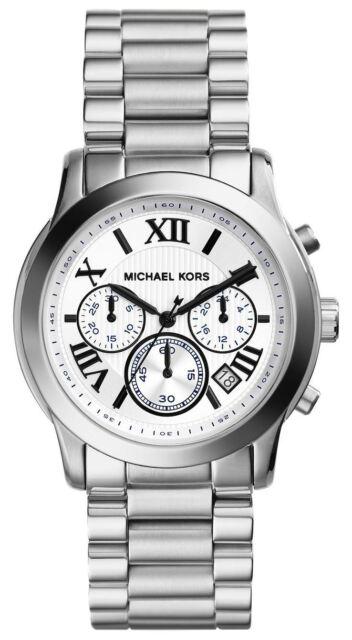 Ladies Michael Kors MK5928 Watch Stainless Steel Chronograph Date