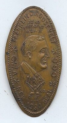 FDR Lincoln Rolled Wheat 1C NRA (#7371) 1934 New Deal. Carefullly Check out the